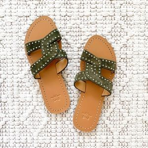 Marc Fisher Ramie Studded Leather Sandals